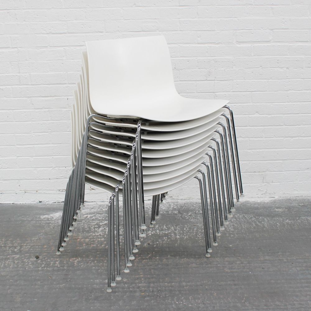 white folding chair trendy accent chairs arper catifa 46 | plastic stacking bistro on chrome base